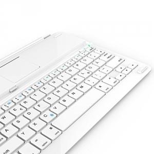 Anker Ultra-Thin Deutsche Bluetooth Tastatur Keyboard Case Cover für Apple iPad Air - Smart Cover mit eingebauter 800mAh Li-ion Batterie (Weiß) -